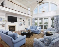 Traditional Family Room 2 Story Great Rooms Design, Pictures, Remodel, Decor and Ideas