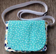 Small messenger bag, Shoulder bag, Blue messenger bag, Fabric bags, Bags and purses, Girl's messenger bag, Girl's birthday present