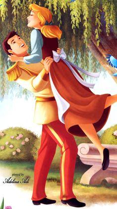*PRINCE CHARMING & CINDERELLA ~ Cinderella Cinderella Wallpaper, Cinderella Art, Cinderella Prince, Cinderella And Prince Charming, Cute Disney Wallpaper, Walt Disney Cinderella, Cinderella Wedding, Trendy Wallpaper, Disney Princess Pictures