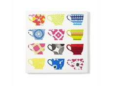 DIY Kitchen Art How-to: Napkin Teacups on Canvas : Decorating : Home & Garden Television
