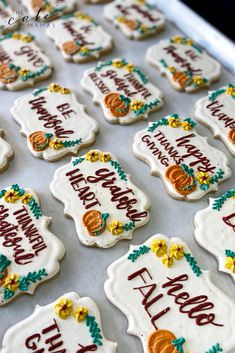 Thanksgiving decorated sugar cookies. Perfect for all your thanksgiving celebrations. Click the link to order your celebration dessert today. #thanksgiving #cookies #decoratedcookies #dessert #sugarcookies  #friendsgiving #fall