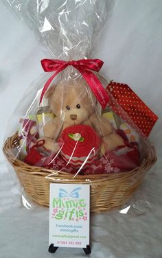 Christmas gift basket for baby. Sizes 0-3m, 3-6m or 6-12m available .