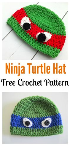 Ninja Turtle Hat FREE Crochet Pattern