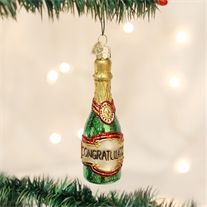Champagne is the wine of good fortune. The bottle, the cork, and the wine itself, all have connotations of good luck. This beautiful glass Champagne Bottle ornament makes a great gift or keepsake for any special occasion or celebration. Old World Christmas Ornaments, Vintage Christmas, Christmas Stuff, Champagne Christmas Tree, Unique Gifts, Great Gifts, How To Make Ornaments, Hostess Gifts, Grape Vines