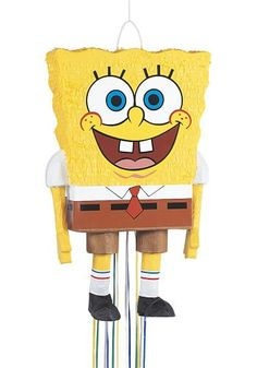 Not many party decorations are more fun than our SpongeBob Squarepants Pull String Pinata! This pinata is in the shape of SpongeBob Squarepants. Spongebob Party Supplies, Spongebob Birthday Party, Birthday Pinata, Pinata Party, Kids Party Supplies, 2nd Birthday Parties, Birthday Ideas, Kid Parties, 9th Birthday
