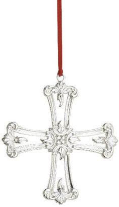 Reed & Barton Classical Cross Christmas Ornament