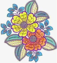 Antieke styl van Floral Stiksweis