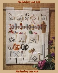 Quilting wall organizer