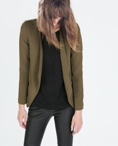 Image 2 of FLOWY BLAZER WITH ZIPS from Zara
