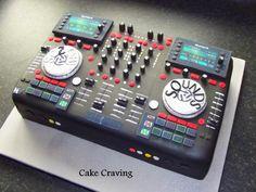 CD DJ Decks cake - Cake by Hayley