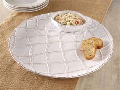Mud Pie Classic Crab Collection Chip Dip Serving Plate Bowl Party Dish