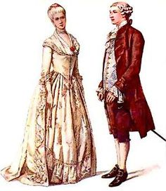Атрибуты мужских костюмов во 2 половине 18 века россии