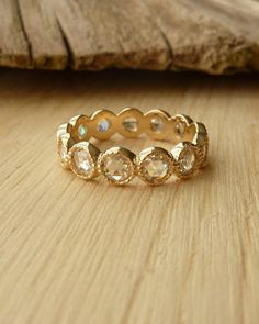 Rose Cut Moissanite Eternity Band by kateszabone on Etsy, $1565.00