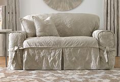 Have old couch ... thinking I like the look of this slip cover alot! They have it to fit loveseats, chairs,and a parson chair design. 20%off all orders with promo code P286 expires 3/31/2012