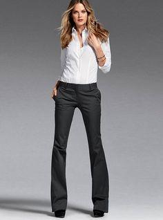 Love these slacks from V.S. in any color. #pants #victoriassecret #slacks