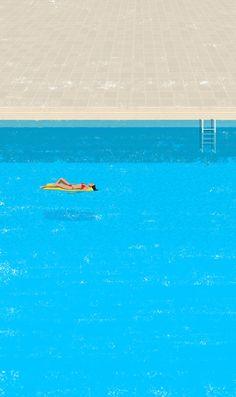 """pool-1"" art print by Raphaëlle Martin on Society6."