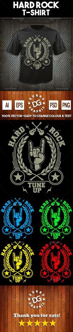 Hard Rock T-shirt Design - Grunge Designs