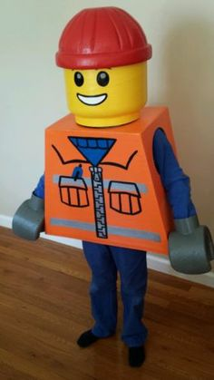 Lego Costume Construction Worker Size 4 6 8 10 | eBay