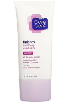 Clean & Clear Finishes Mattifying Moisturizer: This stuff has been discontinued (I think) but I stocked up. It leaves a great even finish and it mixes wonderfully with a slightly too dark foundation to make an excellent tinted moisturizer. Beauty Care, Beauty Skin, Health And Beauty, Beauty Hacks, Hair Beauty, Beauty Tips, Moisturizer For Oily Skin, Oily Skin Care, Makeup Moisturizer
