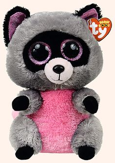 *Ty Beanie Boos* Type: Raccoon Name: Rocco Birthday: February Introduced: January 2014 Retired: Big Eyed Stuffed Animals, Big Eyed Animals, Ty Animals, Plush Animals, Ty Teddies, Shopkins, Ty Peluche, Rare Beanie Babies, Ty Toys