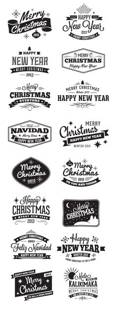 Add a retro flair to your Christmas designs with this new Christmas Badges and Label Vector Pack. Included in this pack are 16 Christmas label vectors, some with a vintage style, some