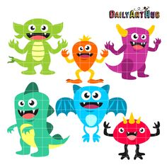 FREE Happy Monsters Clip Art Set