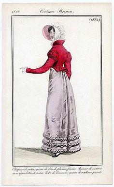 Le Journal des Dames et des Modes 1820 Costume Parisien N°1882