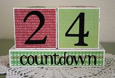Countdown blocks - could do for Valentines, Easter, Halloween... any holiday with colors to match!  Fun!