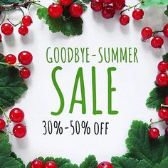 "Goodbye-Summer Sale all 30% off. Coupon code ""GOODBYESUMMERSALE"" valid only today and tomorrow :)"