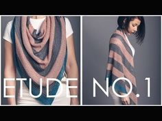 How to knit garter tab cast on! Shown in our etude no 1 shawl - youtube
