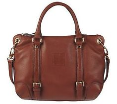 Liz Claiborne New York Leather Zip Top Satchel - QVC.com