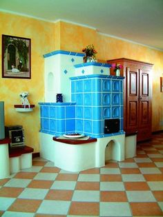 Klasický kachlová kamna Classic Fireplace, Stoves, Loft, House, Furniture, Home Decor, Drive Way, Kitchen Modern, Decoration Home
