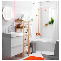 A great bathroom needs to make the most of busy mornings and relaxing nights. Find smart bathroom solutions with IKEA to help organize it all. Ikea Bathroom, Small Bathroom Storage, Laundry In Bathroom, White Bathroom, Bathroom Furniture, Modern Bathroom, Bathroom Ideas, Ikea Inspiration, Bathroom Inspiration