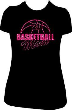Basketball Mom Glitter Shirt [CUSTOM TEE]