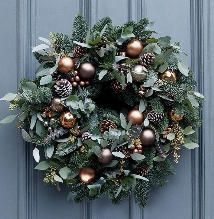 Welcome guests and be the envy of your neighbours with these festively fabulous Christmas outdoor decorations. Christmas Wreaths For Front Door, Outdoor Christmas Decorations, Christmas Presents, Christmas Crafts, Xmas, Holiday Decor, Christmas Door, Christmas Music, Door Wreaths