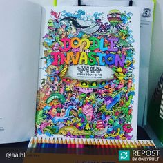 #Repost @aalhl  Too complicated.. Lost in colors! Mata juling liao.  #doodleinvasion #colleenpencils #zifflin  @aalhl Wow!! We love this!! Awesome stuff :)