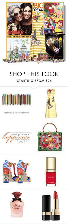 """DOLCE GABANA SUMMER ♥"" by bouchra-re ❤ liked on Polyvore featuring Dolce&Gabbana"