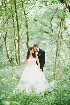 Pick your favorite woodsy spot in the forest for your wedding photos - we have a ton!