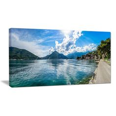 DesignArt Kotor Bay on Summer Day Panorama Photographic Print on Wrapped Canvas Size:
