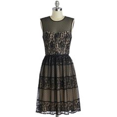 ModCloth Long Sleeveless A-line Sultry Songstress Dress