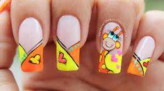 Deko uñas by diana diaz Frozen Nail Art, Frozen Nails, Love Nails, Fun Nails, Giraffe Nails, Gold Glitter Nails, Nails For Kids, Holiday Nail Art, Luxury Nails