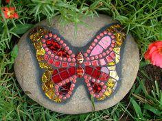 Garden mosaic butterfly
