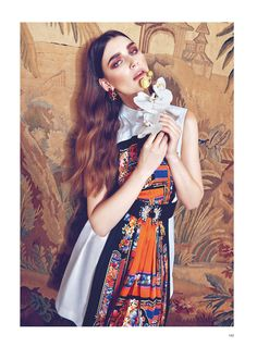 eugenia volodina photo shoot3 Eugenia Volodina Gets Glam in Bazaar Ukraine Shoot by Federica Putelli