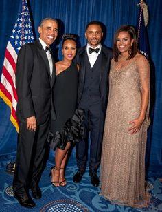 Washington and Asomugha at the 2016 White House Correspondents Dinner.