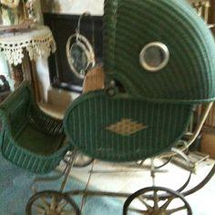 My vintage aqua baby buggy