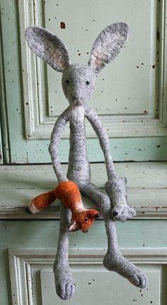 marionettiste - gaukler - entertainer by swig - filz felt feutre, via Flickr