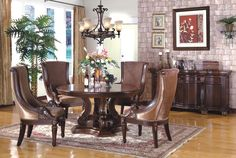 The New Carlton Formal Round Dining Room Collection 12561