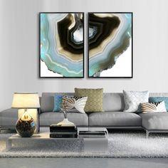 DUE FETTE DI AGATA MIXGALLERY nature,agate,wallart,canvas,canvas print,home decor, wall,framed prints,framed canvas,artwork,art