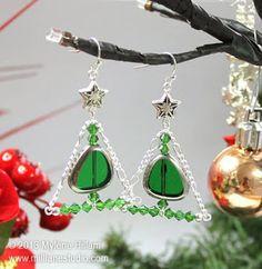 Mill Lane Studio: Stylised Christmas Tree Earrings - Day 4 - Twelve ...