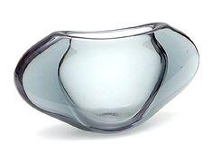 Steelblue glass vase design Floris Meydam 1958 executed by Glasfabriek Leerdam / the Netherlands